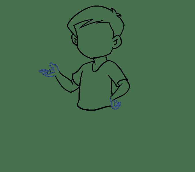 Cách vẽ cậu bé: Bước 11