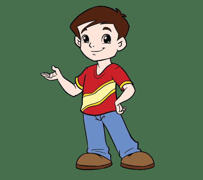 Cách vẽ cậu bé: Bước 20