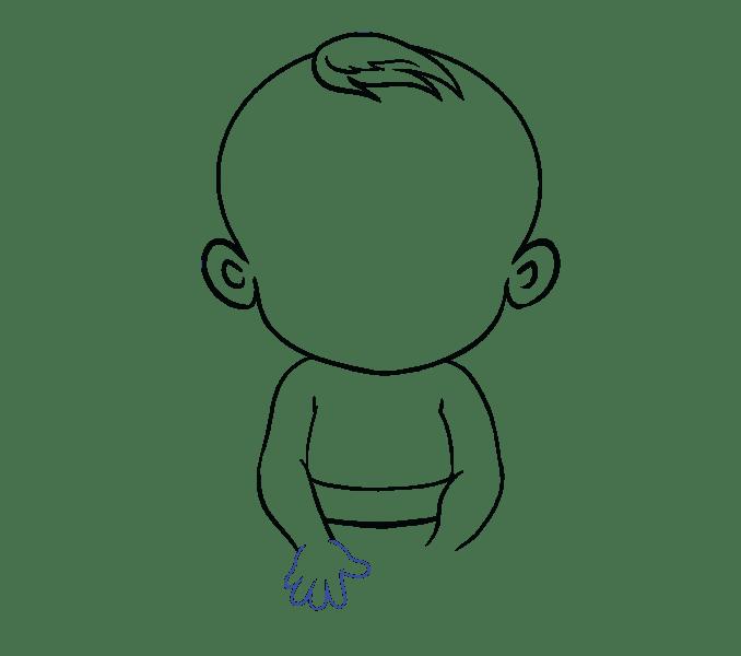 Cách vẽ bé: Bước 13