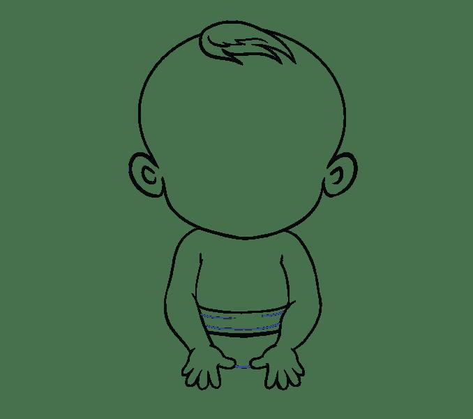 Cách vẽ bé: Bước 15