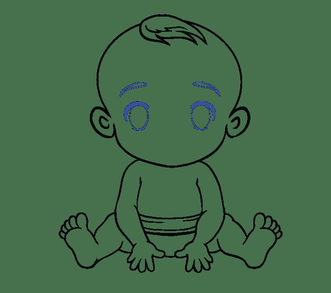 Cách vẽ bé: Bước 18