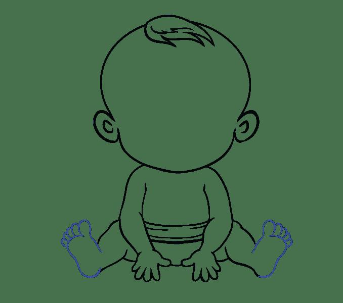 Cách vẽ bé: Bước 17