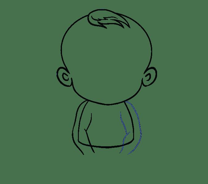 Cách vẽ bé: Bước 9