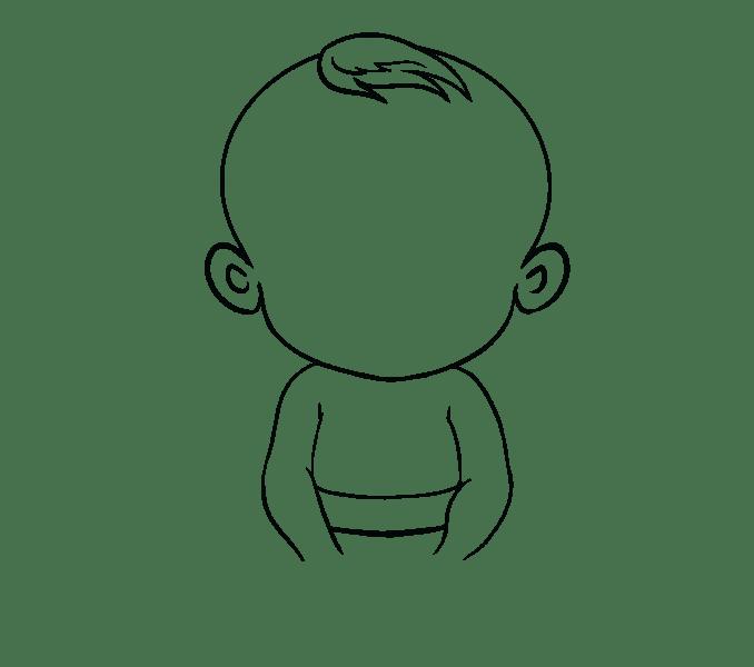 Cách vẽ bé: Bước 12