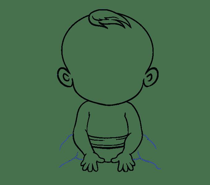 Cách vẽ bé: Bước 16