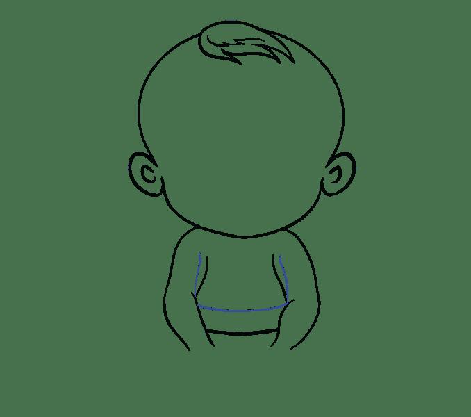 Cách vẽ bé: Bước 11