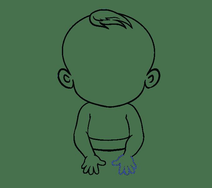 Cách vẽ bé: Bước 14