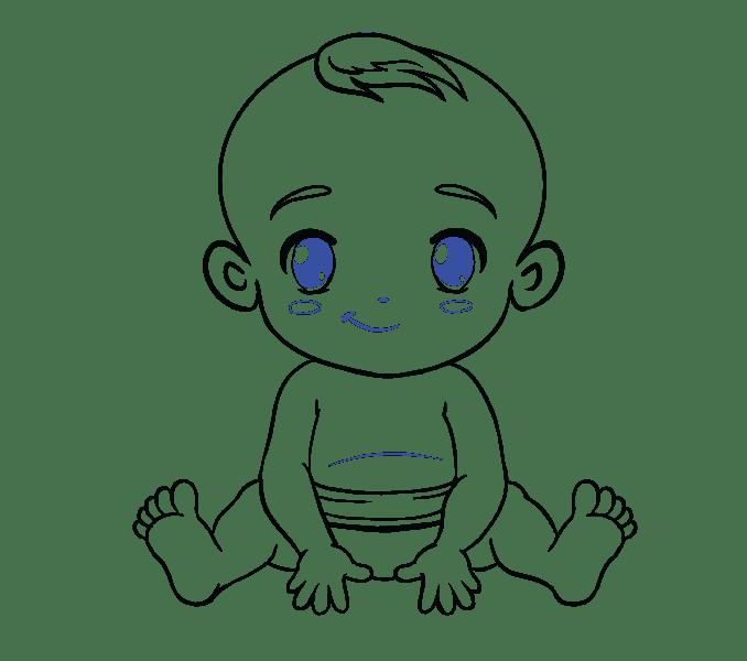 Cách vẽ bé: Bước 19