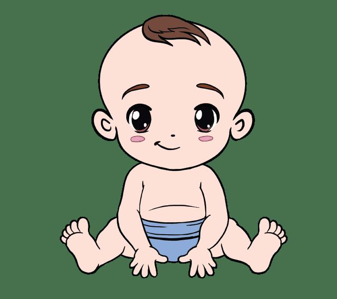 Cách vẽ bé: Bước 20