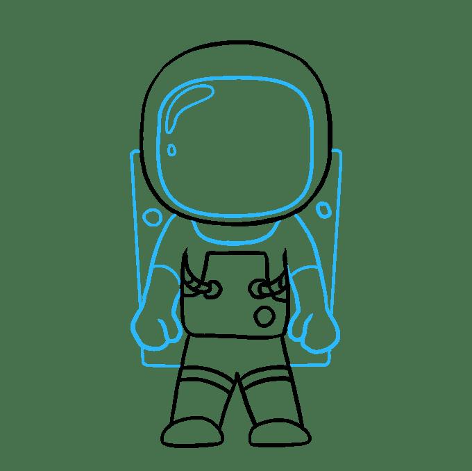 Cách vẽ phi hành gia: Bước 9