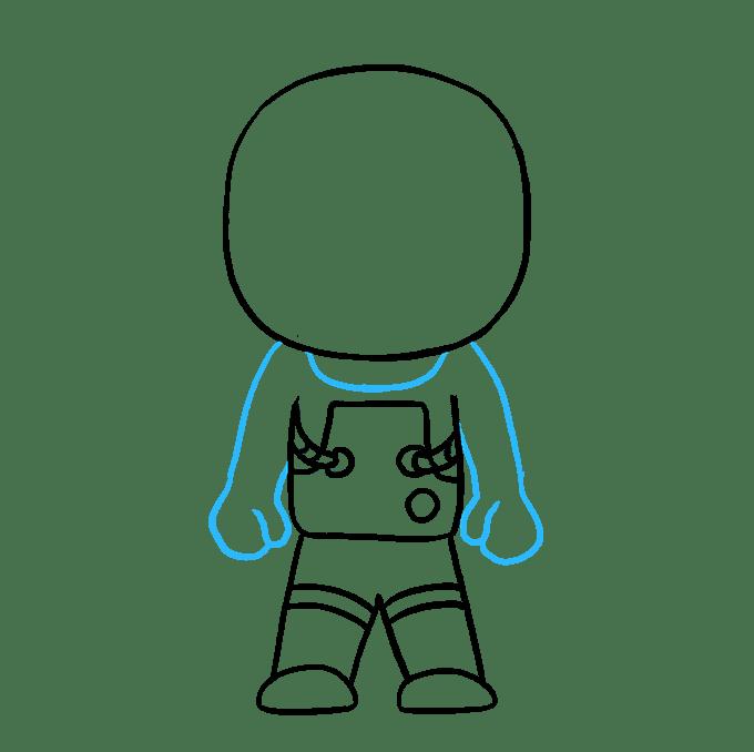 Cách vẽ phi hành gia: Bước 8