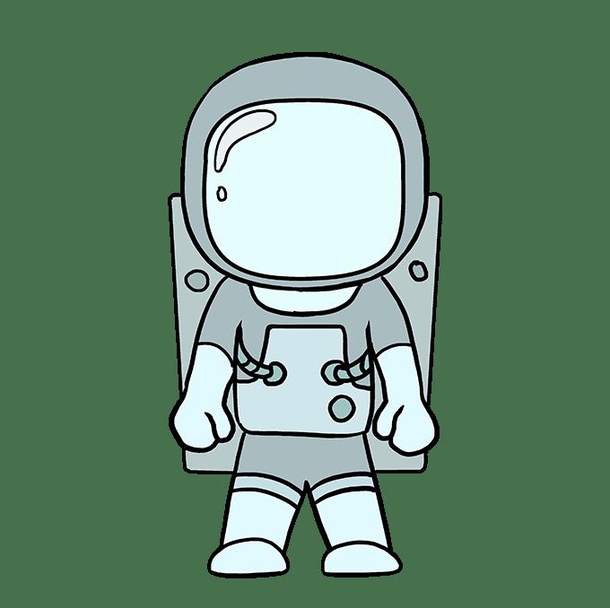 Cách vẽ phi hành gia: Bước 10