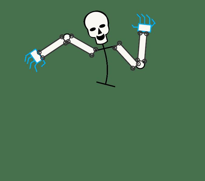Cách vẽ bộ xương: Bước 7