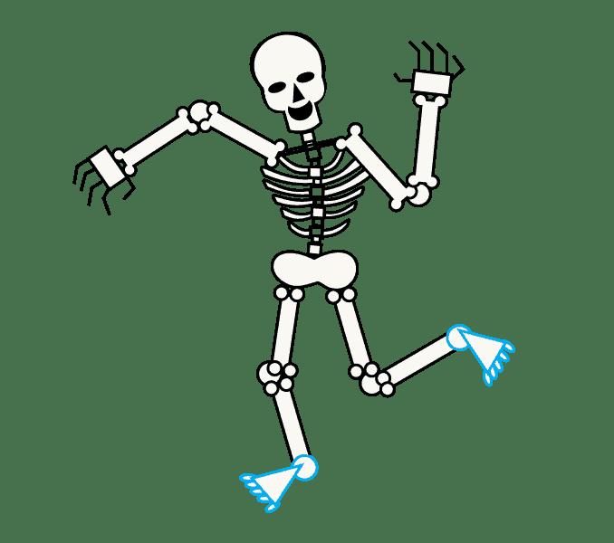 Cách vẽ bộ xương: Bước 13