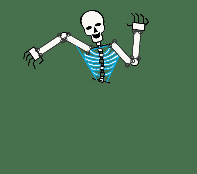 Cách vẽ bộ xương: Bước 9