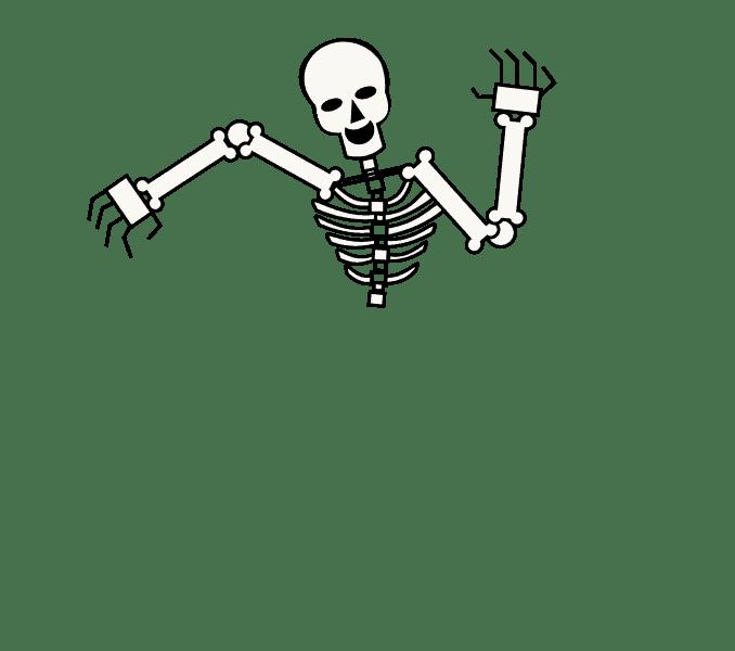 Cách vẽ bộ xương: Bước 10