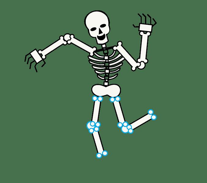 Cách vẽ bộ xương: Bước 12