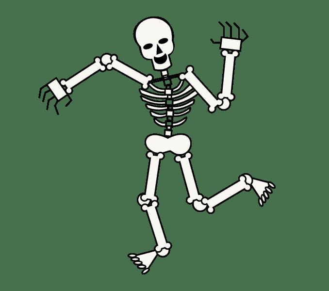 Cách vẽ bộ xương: Bước 14