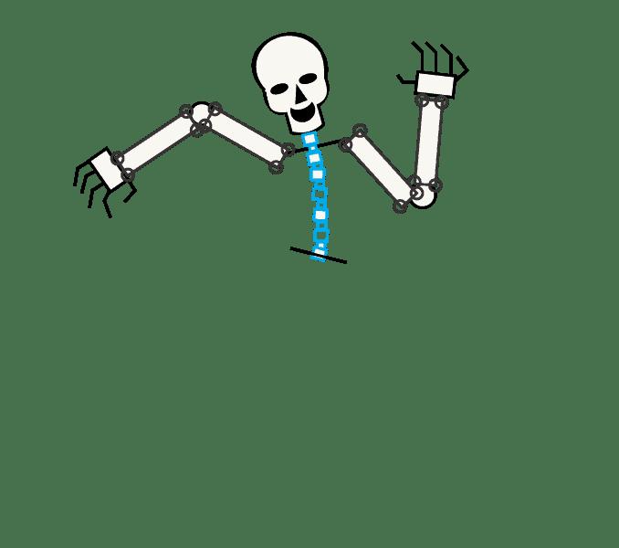 Cách vẽ bộ xương: Bước 8