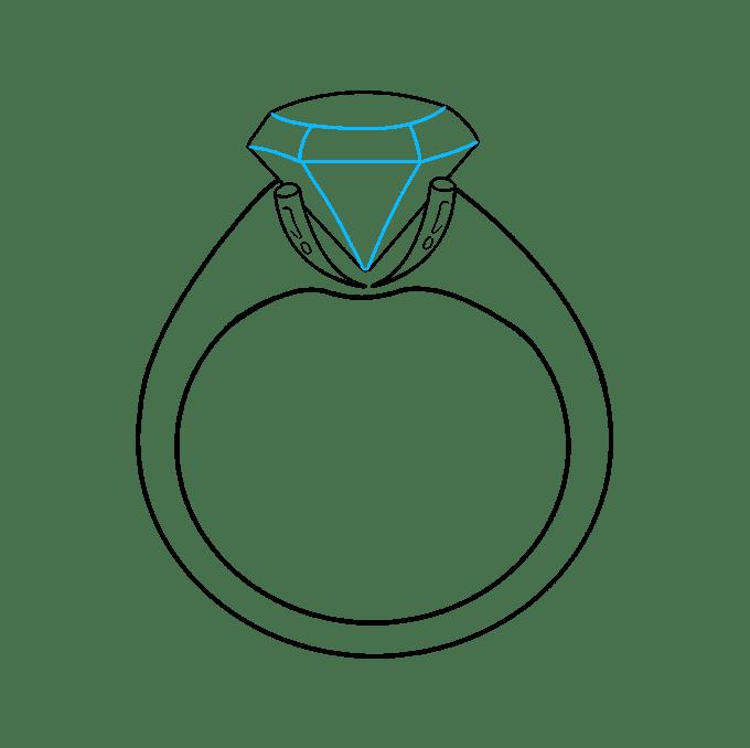 Cách vẽ nhẫn kim cương: Bước 8