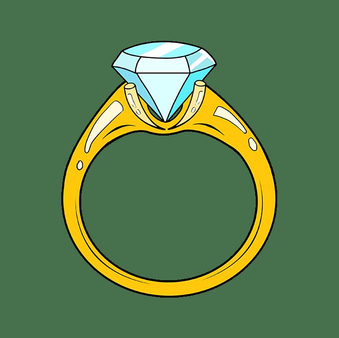 Cách vẽ nhẫn kim cương: Bước 10