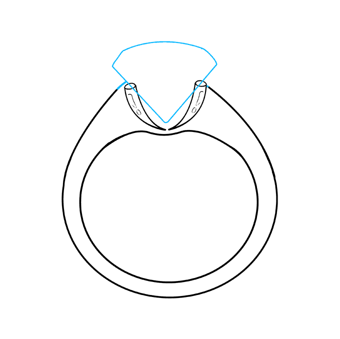 Cách vẽ nhẫn kim cương: Bước 7