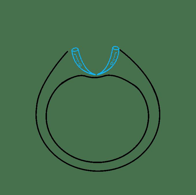 Cách vẽ nhẫn kim cương: Bước 6