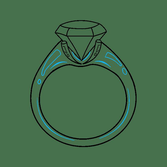 Cách vẽ nhẫn kim cương: Bước 9