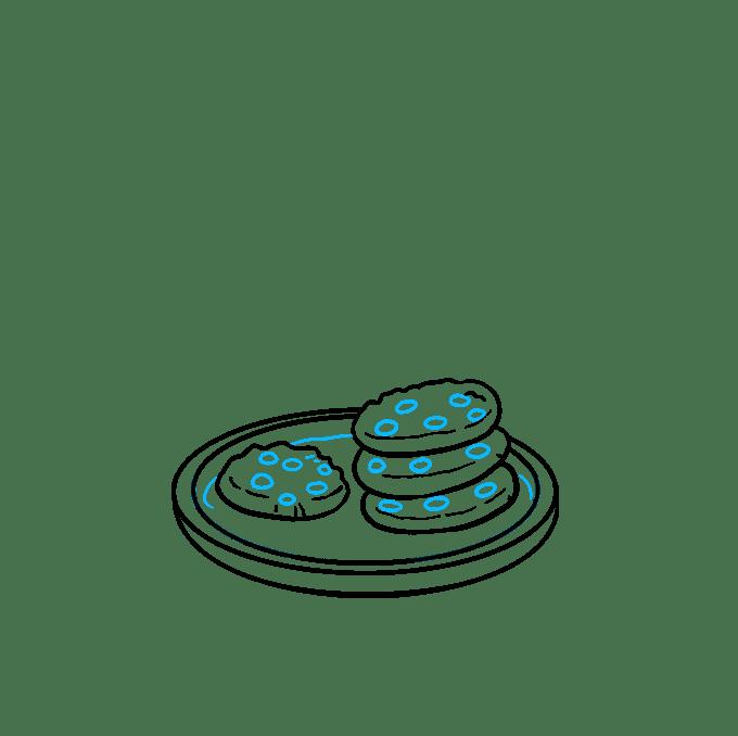 Cách vẽ Cookies: Bước 6