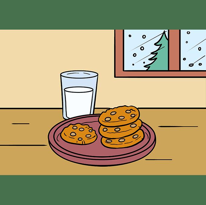 Cách vẽ Cookies: Bước 10