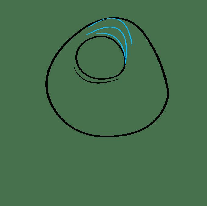 Cách vẽ Mike Wazowski từ Quái vật, Inc.: Bước 4