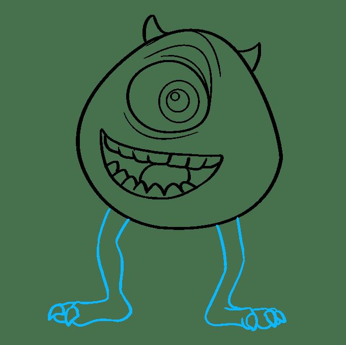 Cách vẽ Mike Wazowski từ Quái vật, Inc.: Bước 8