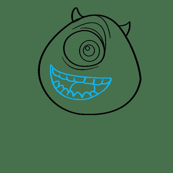 Cách vẽ Mike Wazowski từ Quái vật, Inc.: Bước 7