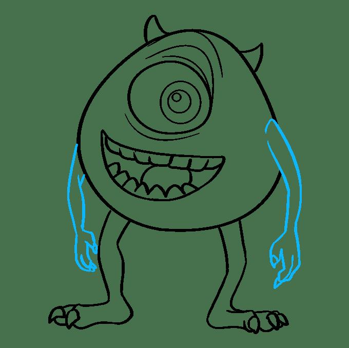 Cách vẽ Mike Wazowski từ Quái vật, Inc.: Bước 9