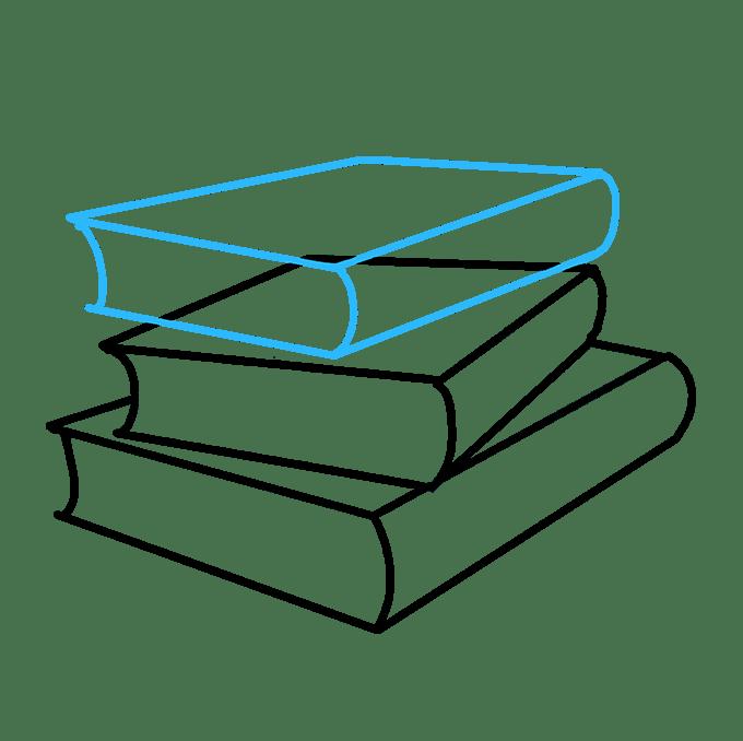 Cách vẽ sách học: Bước 5
