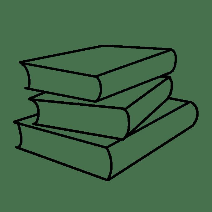 Cách vẽ sách học: Bước 6