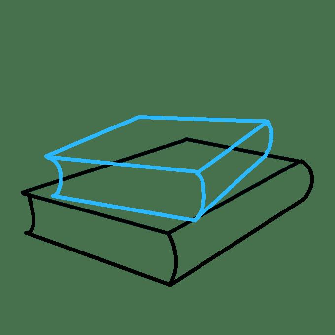 Cách vẽ sách học: Bước 3
