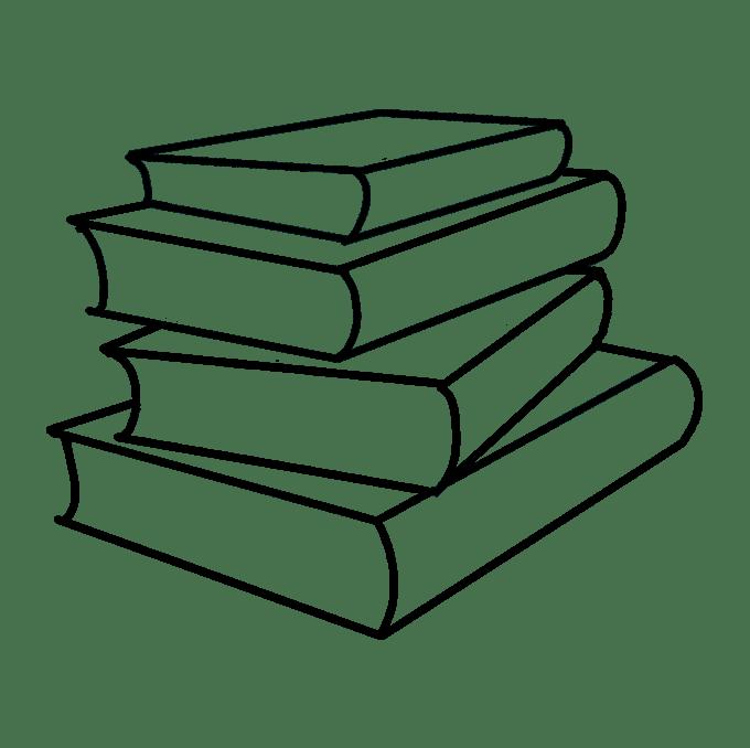 Cách vẽ sách học: Bước 8