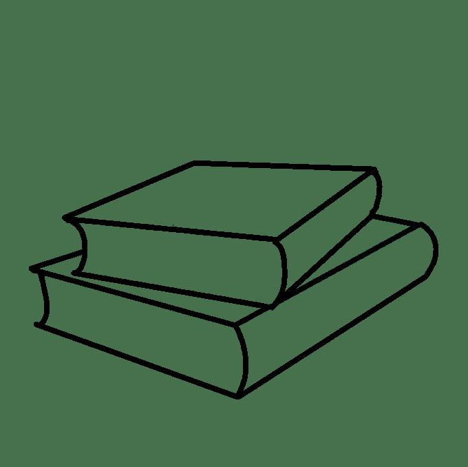 Cách vẽ sách học: Bước 4