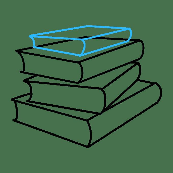 Cách vẽ sách học: Bước 7