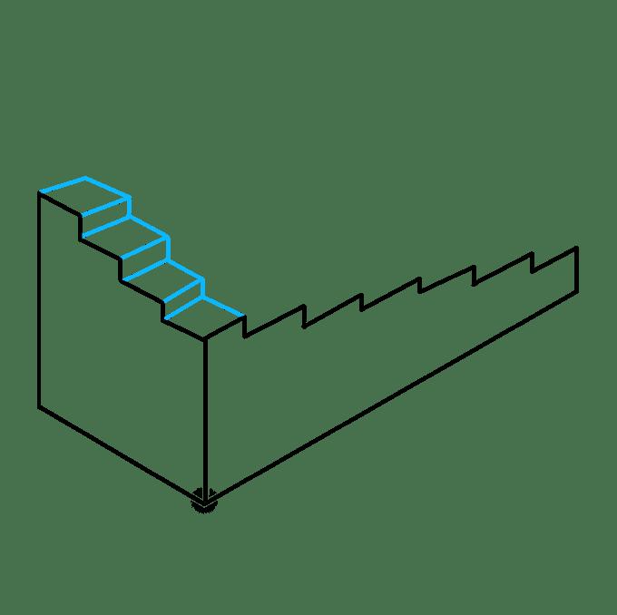 Cách vẽ cầu thang bất khả thi: Bước 5