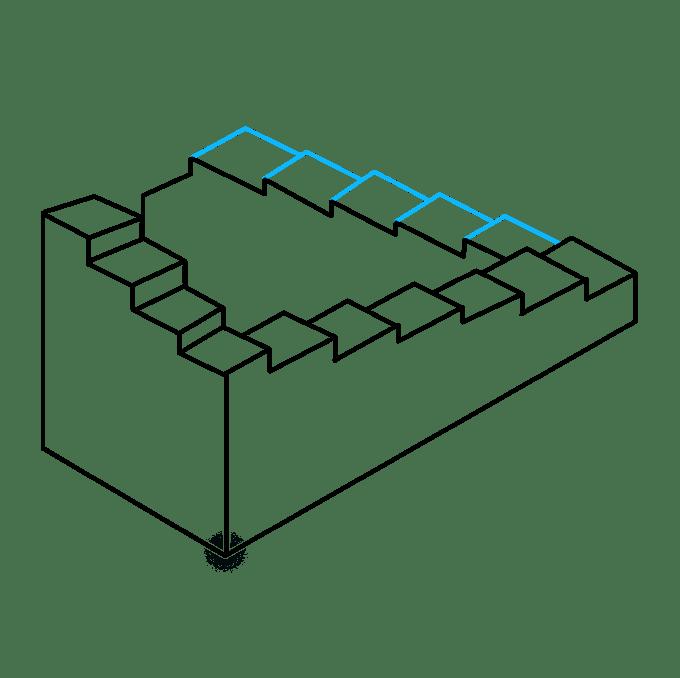 Cách vẽ cầu thang bất khả thi: Bước 8