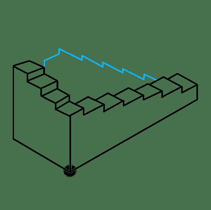 Cách vẽ cầu thang bất khả thi: Bước 7