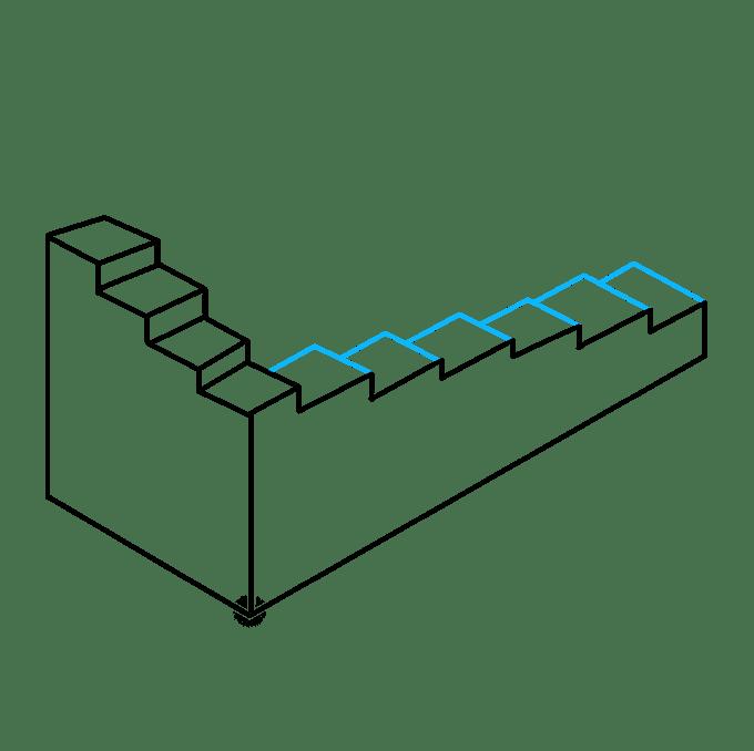 Cách vẽ cầu thang bất khả thi: Bước 6
