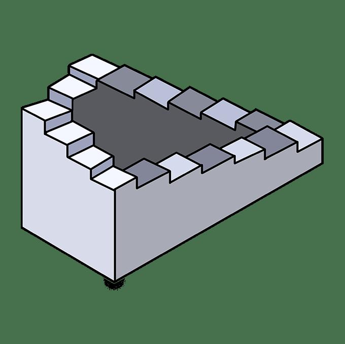 Cách vẽ cầu thang bất khả thi: Bước 10