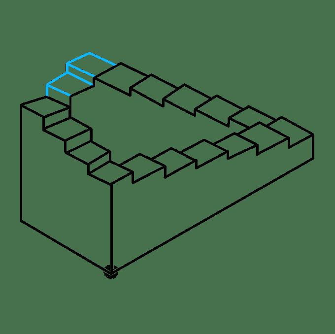 Cách vẽ cầu thang bất khả thi: Bước 9