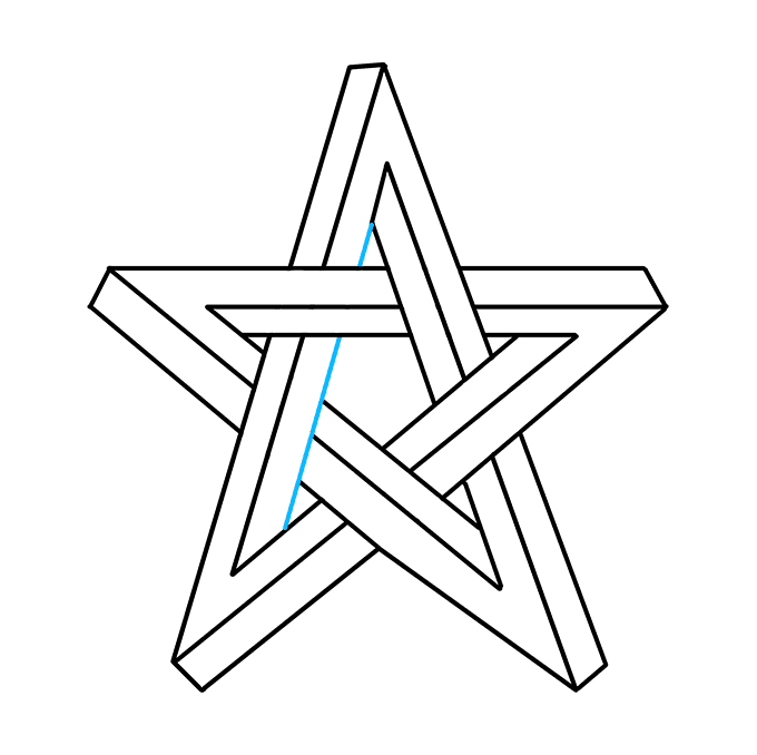 Cách vẽ ngôi sao bất khả thi: Bước 9