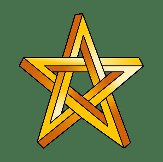 Cách vẽ ngôi sao bất khả thi: Bước 10