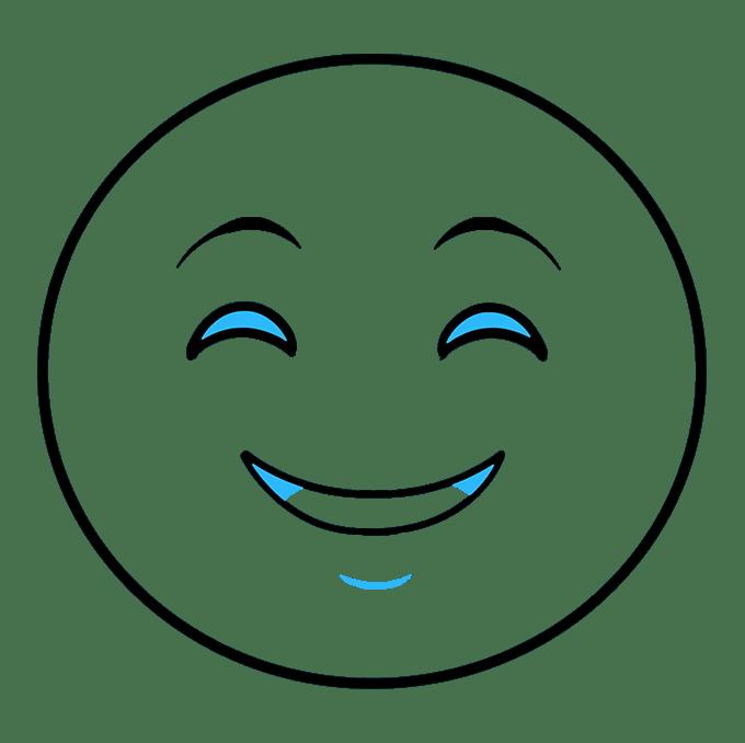 Cách vẽ biểu tượng cảm xúc vui vẻ: Bước 5