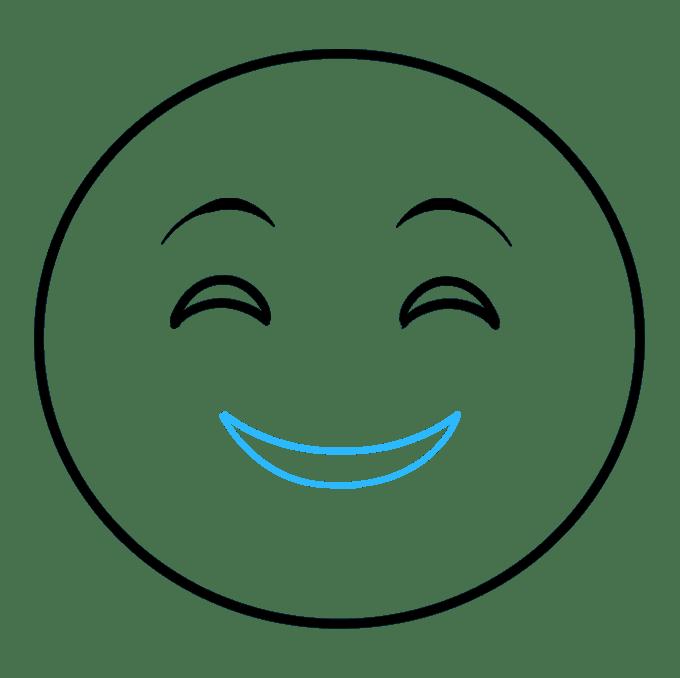 Cách vẽ biểu tượng cảm xúc vui vẻ: Bước 4
